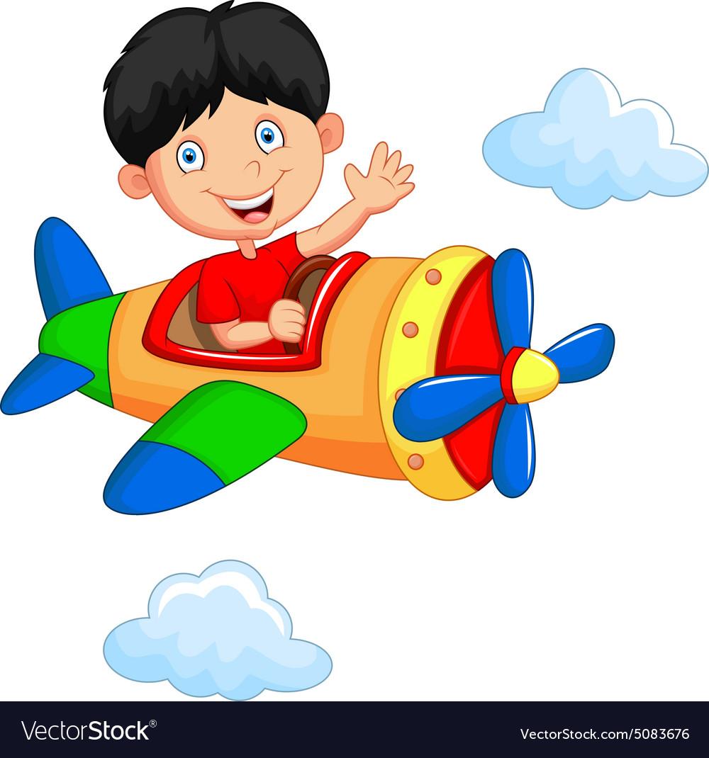 Картинки мальчика на самолете