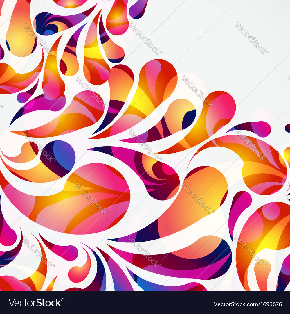 Decorative background made of colorful arc drops