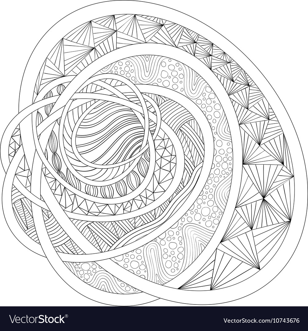 Decorative drawing Zentangle