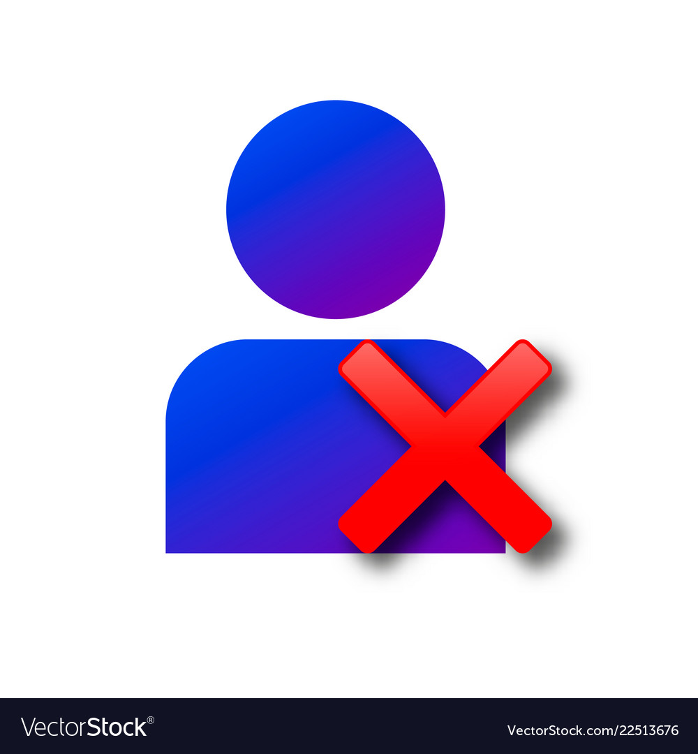 Delete user profile icon