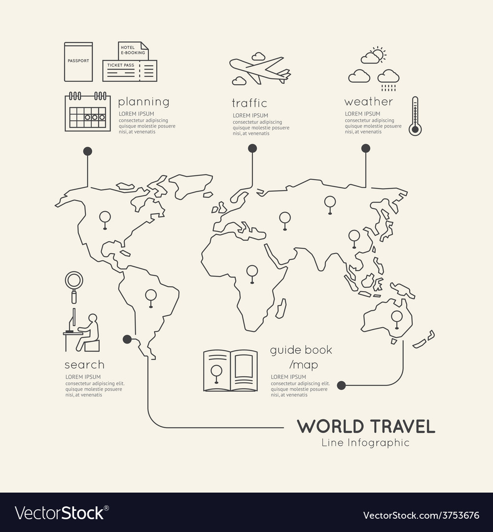 Flat linear Infographic Education Outline concept