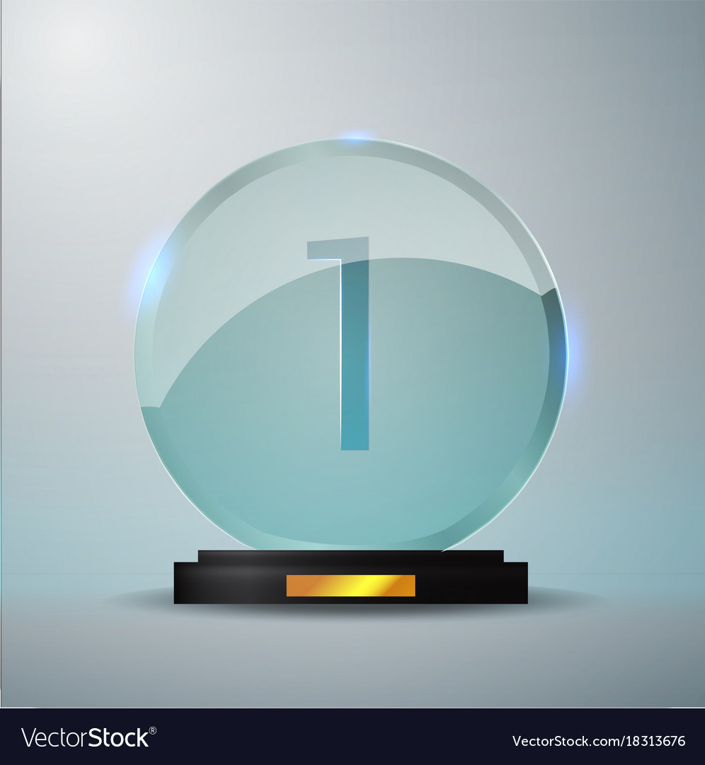 Attractive Glass trophy award first place prize plaque Vector Image PC55