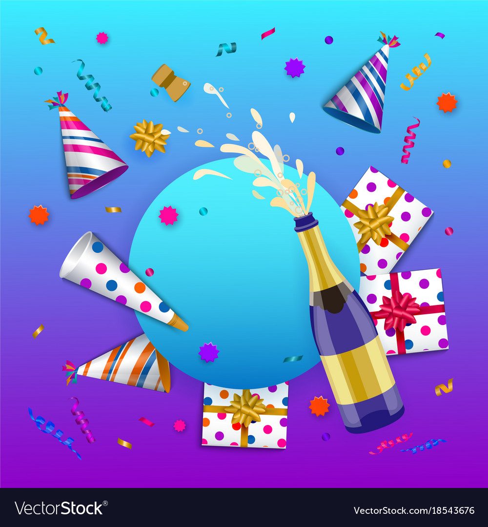 happy birthday banner poster template royalty free vector