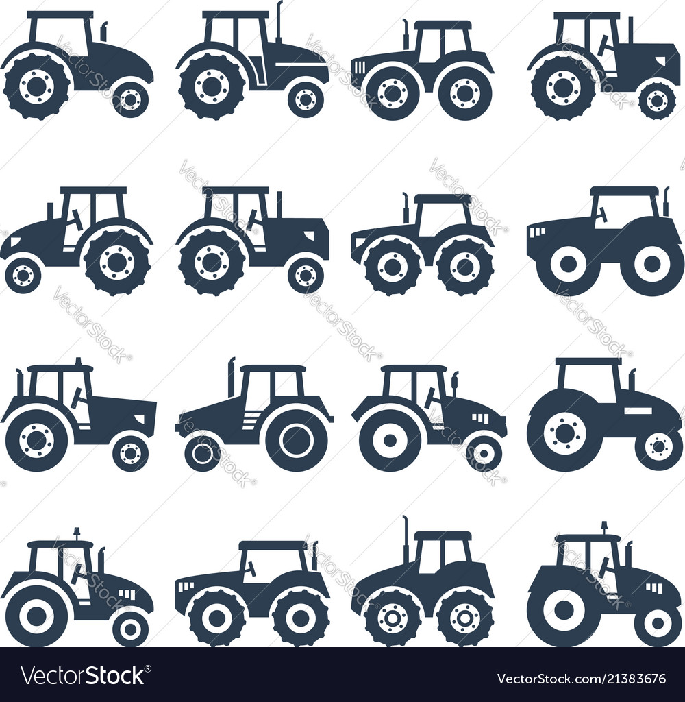 Icons of a tractor