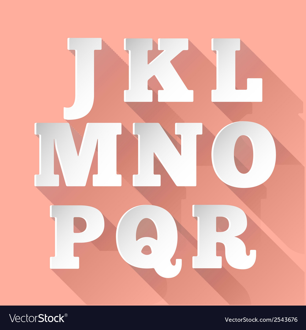 Paper alphabet J-R