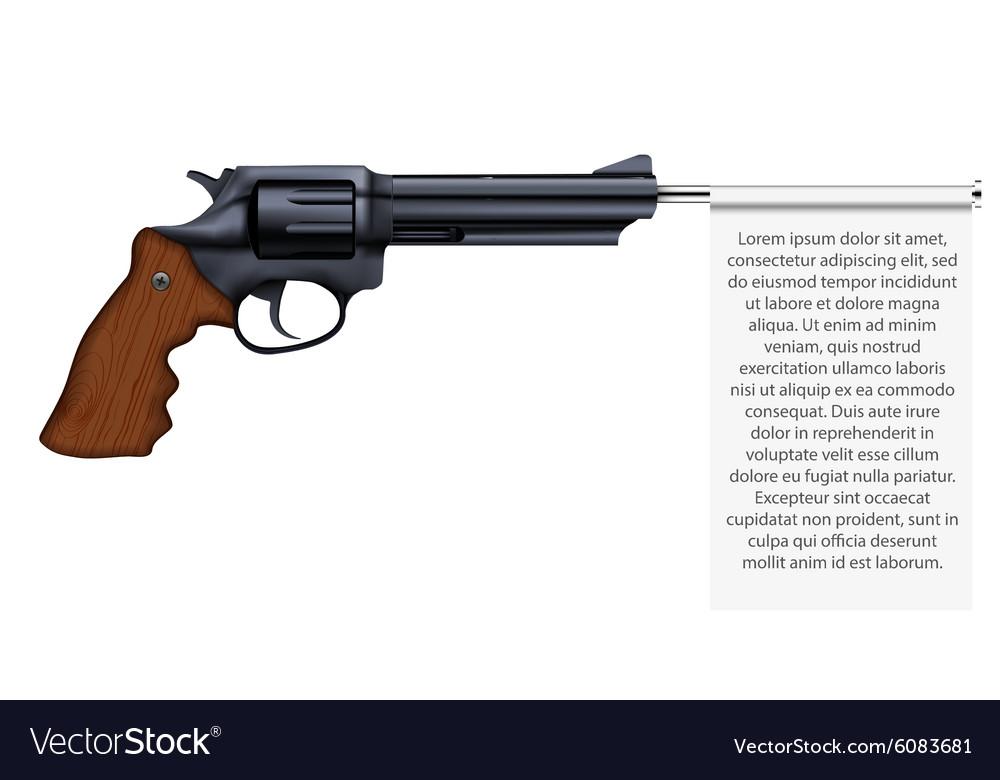 Big Revolver with empty flag