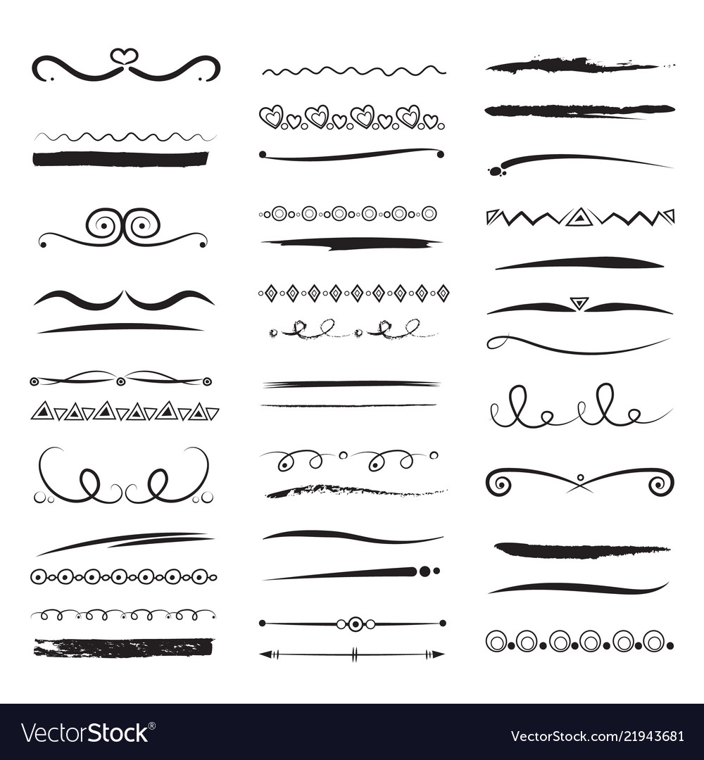 Dividers and borders elegant lines swirls simple