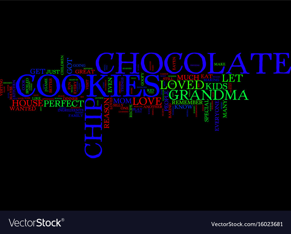 Everyone loves chocolate chip cookies text vector image
