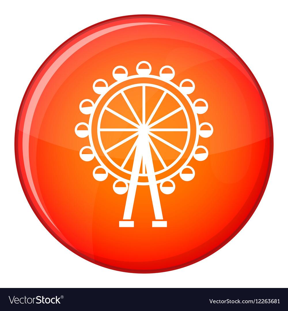 Ferris wheel icon flat style