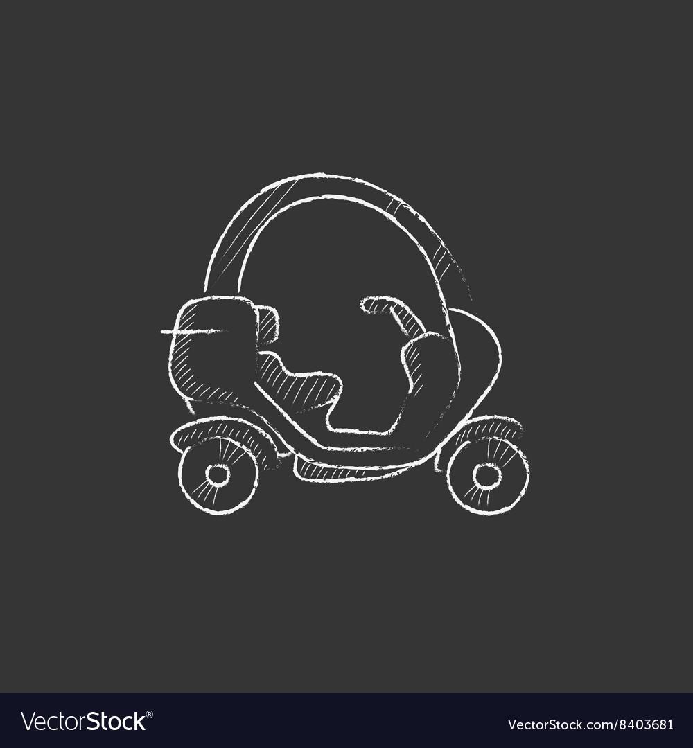 Rickshaw Drawn in chalk icon