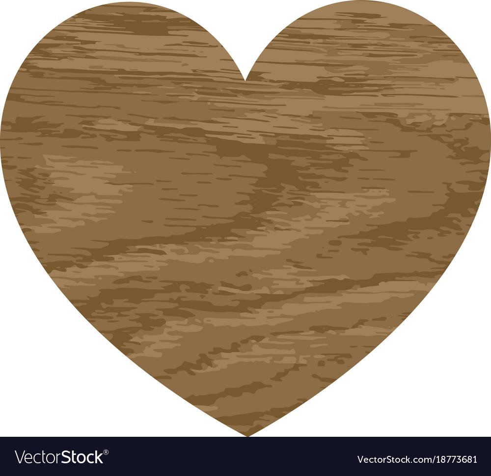 Wooden heart with an oak