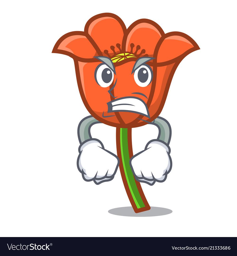 Angry poppy flower mascot cartoon royalty free vector image angry poppy flower mascot cartoon vector image mightylinksfo