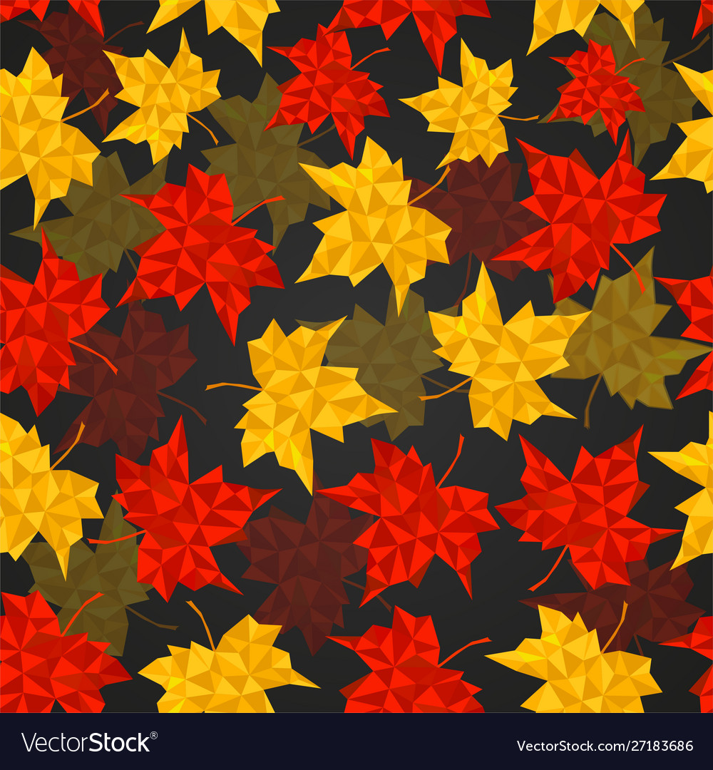 Autumn seamless background maple leaves