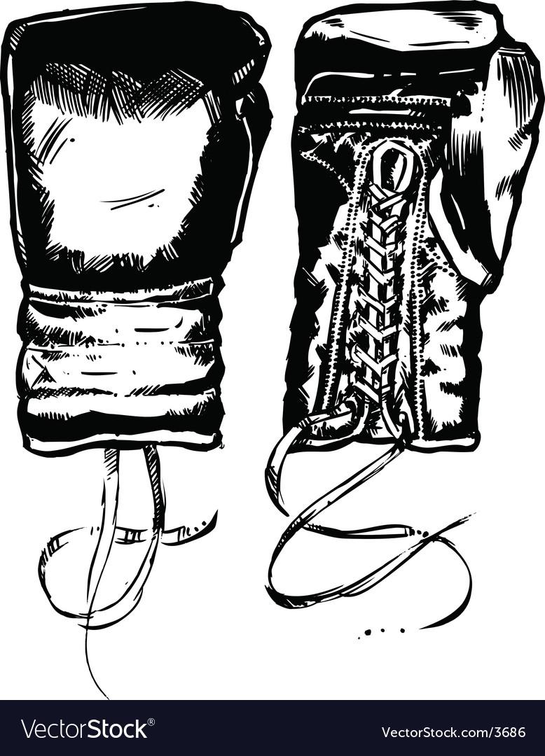 Boxing Gloves Vector. Artist: wingnutdesigns; File type: Vector EPS