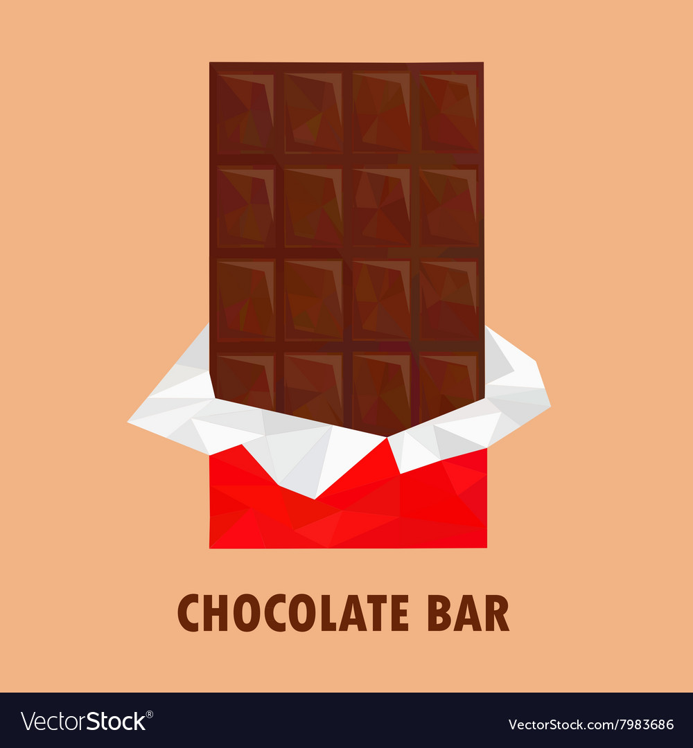 Chocolate poly vector image