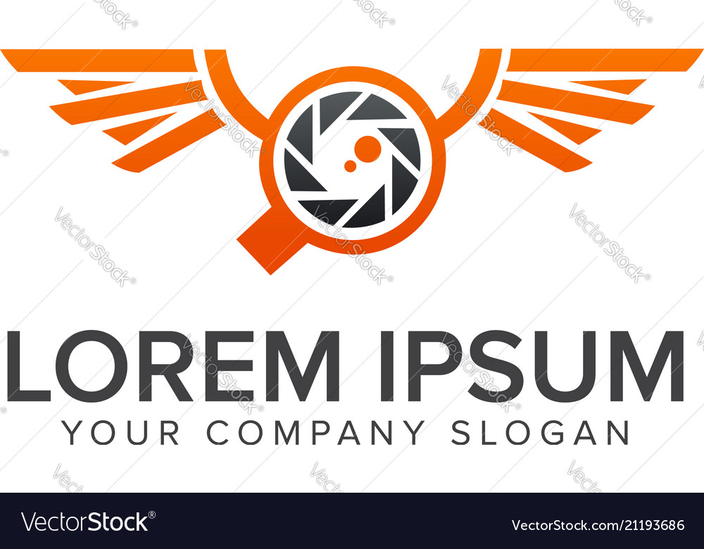 Drone camera logo design concept template