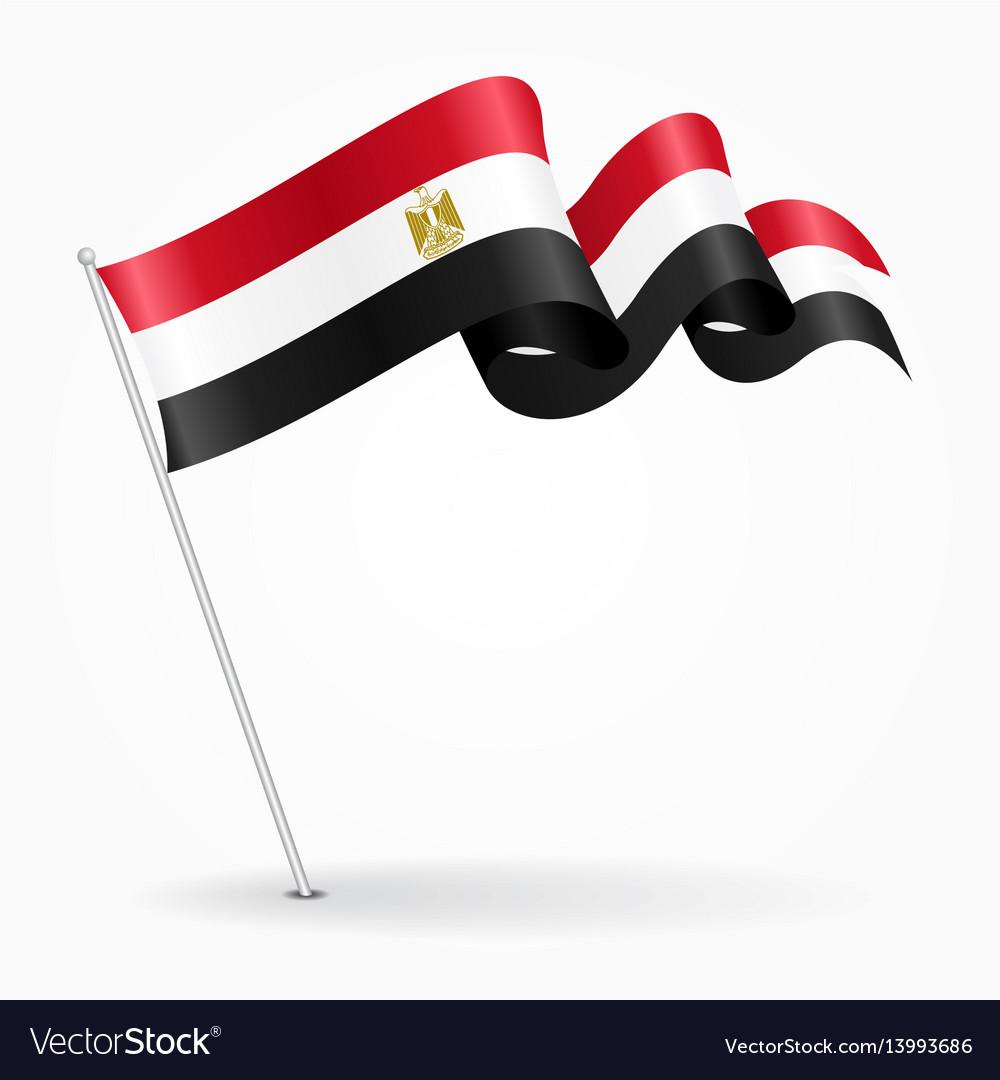 Egyptian pin wavy flag