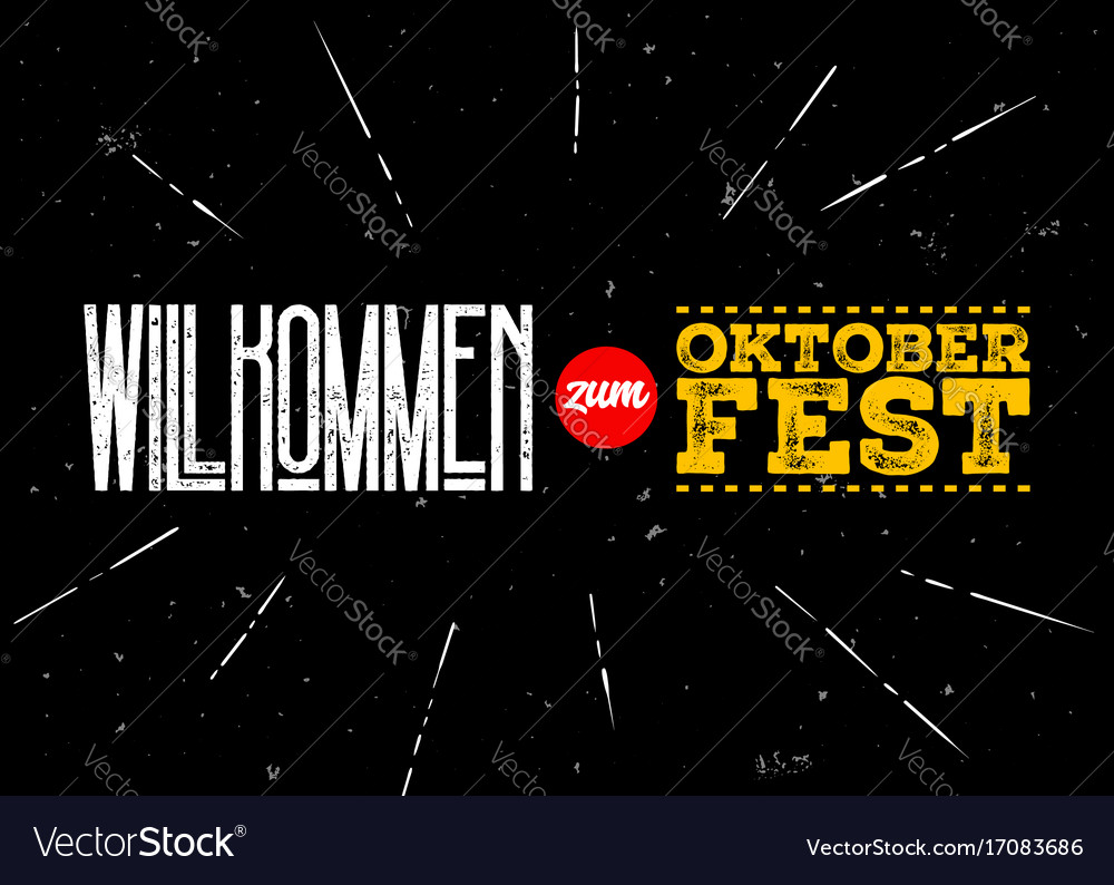 Oktoberfest label welcome to oktoberfest