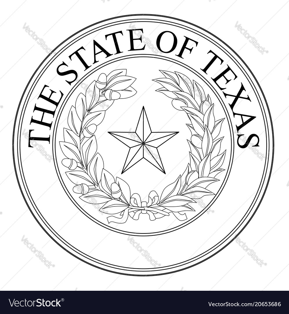 the state of texas seal royalty free vector image