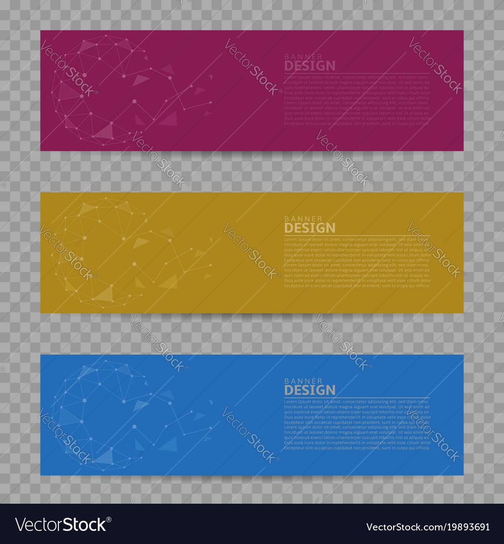 Banner design background set