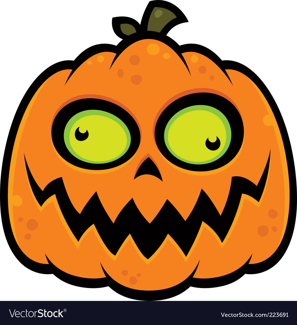 Crazy pumpkin vector image