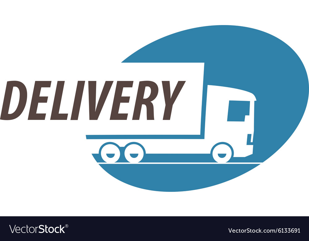 delivery logo design template truck or royalty free vector