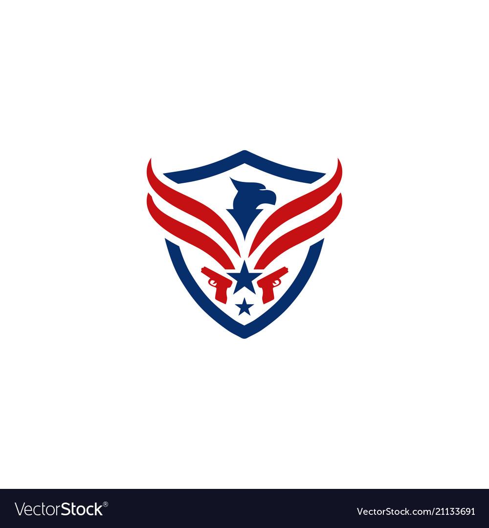 Eagle and shield logo emblem template