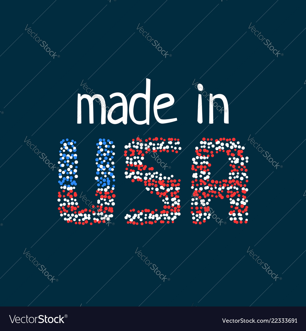 Made in usa logo from colorful dots