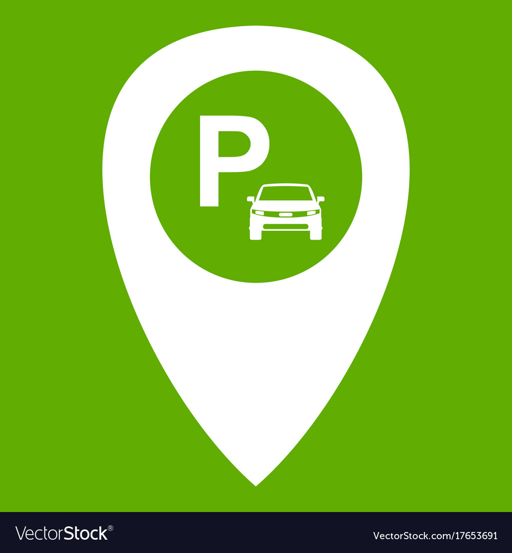 Map pointer with car parking icon green on icon staff, icon transportation, icon services, icon police, icon schedule, icon calendar, icon employment, icon procurement, icon history, icon contact, icon home, icon medical, icon weather, icon meals,