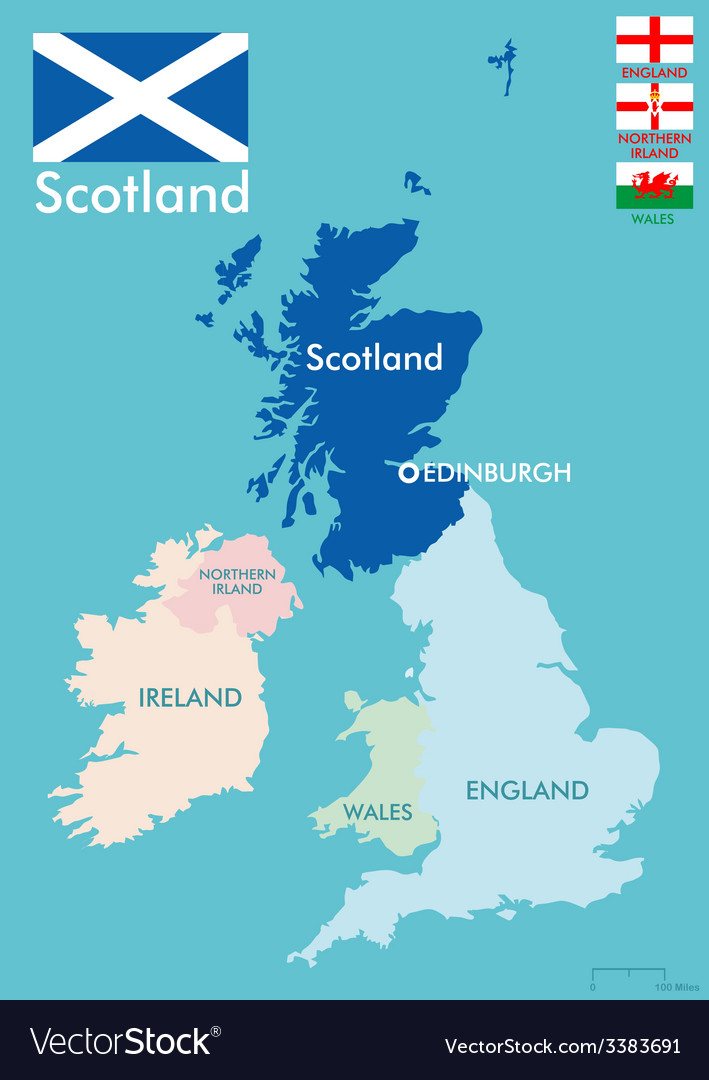 Scotland map Royalty Free Vector Image   VectorStock