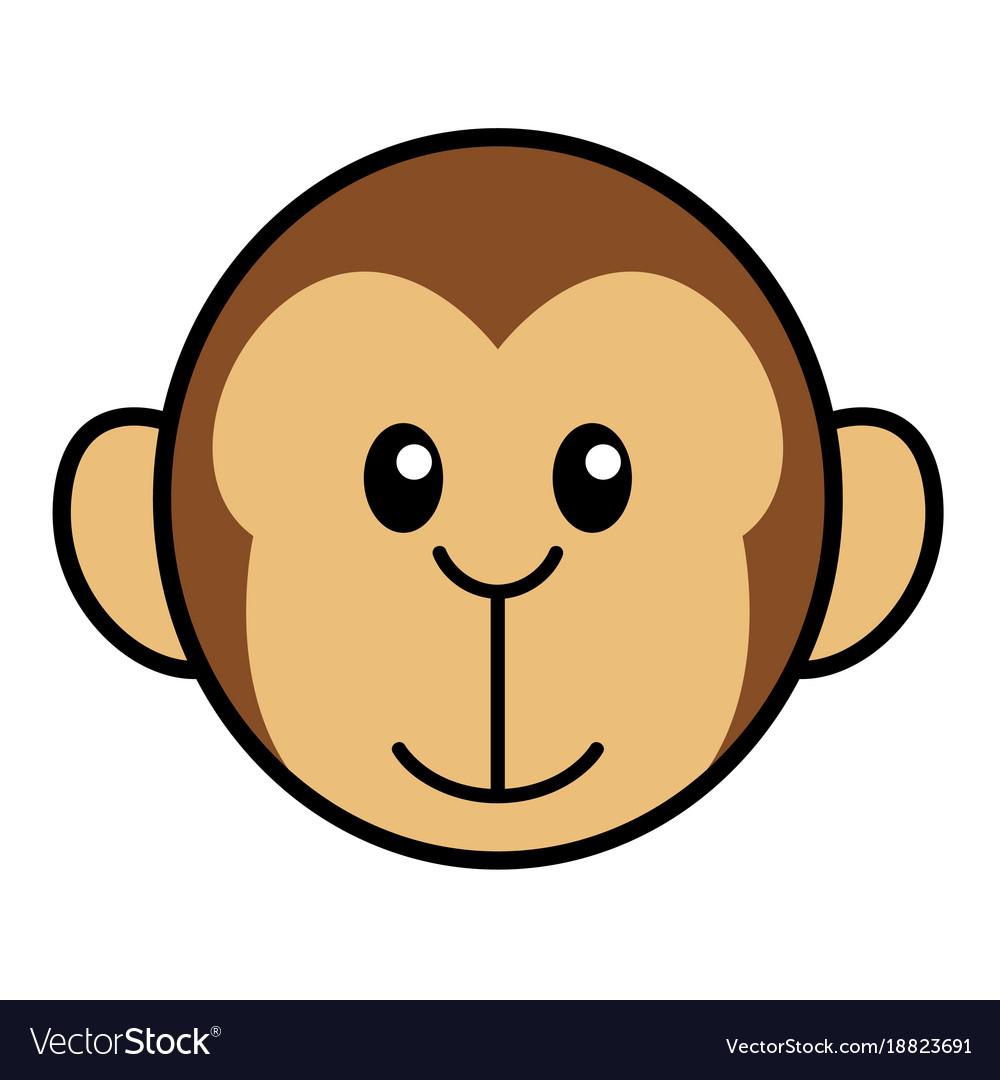 Simple cartoon a cute monkey