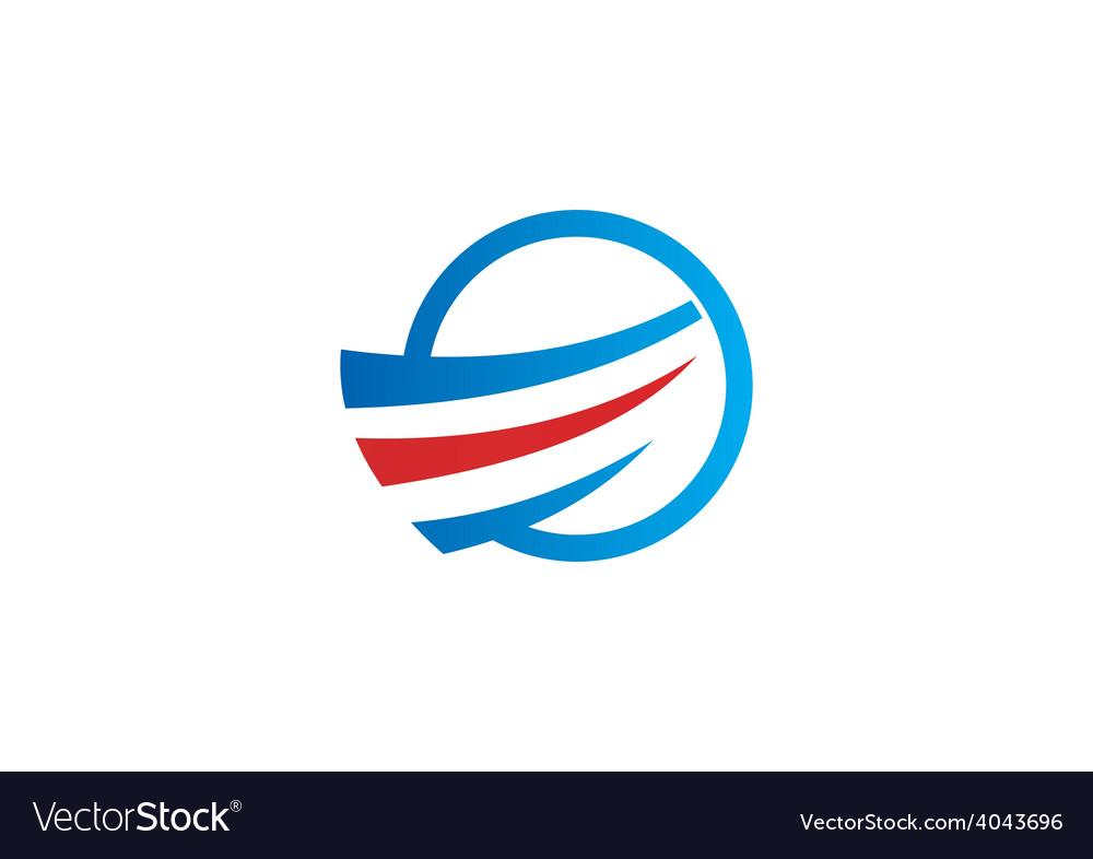 Air flow swirl business logo