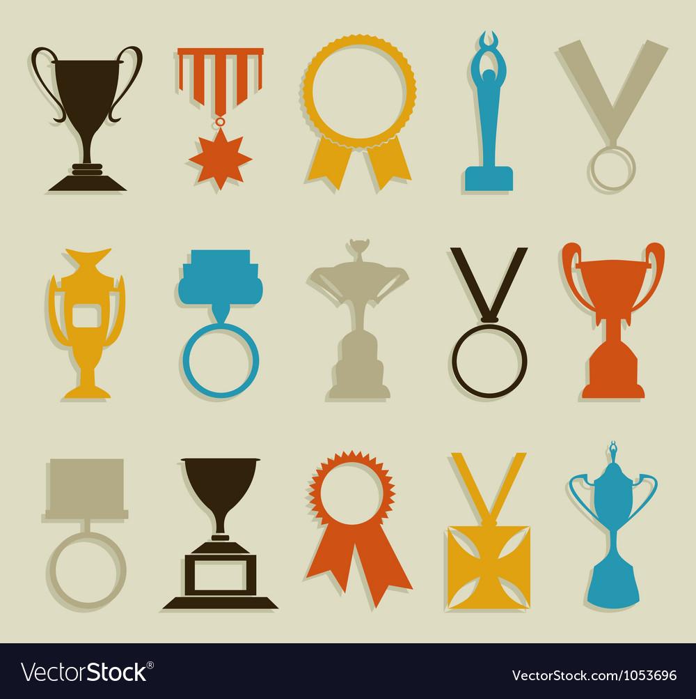 Award in sports vector image