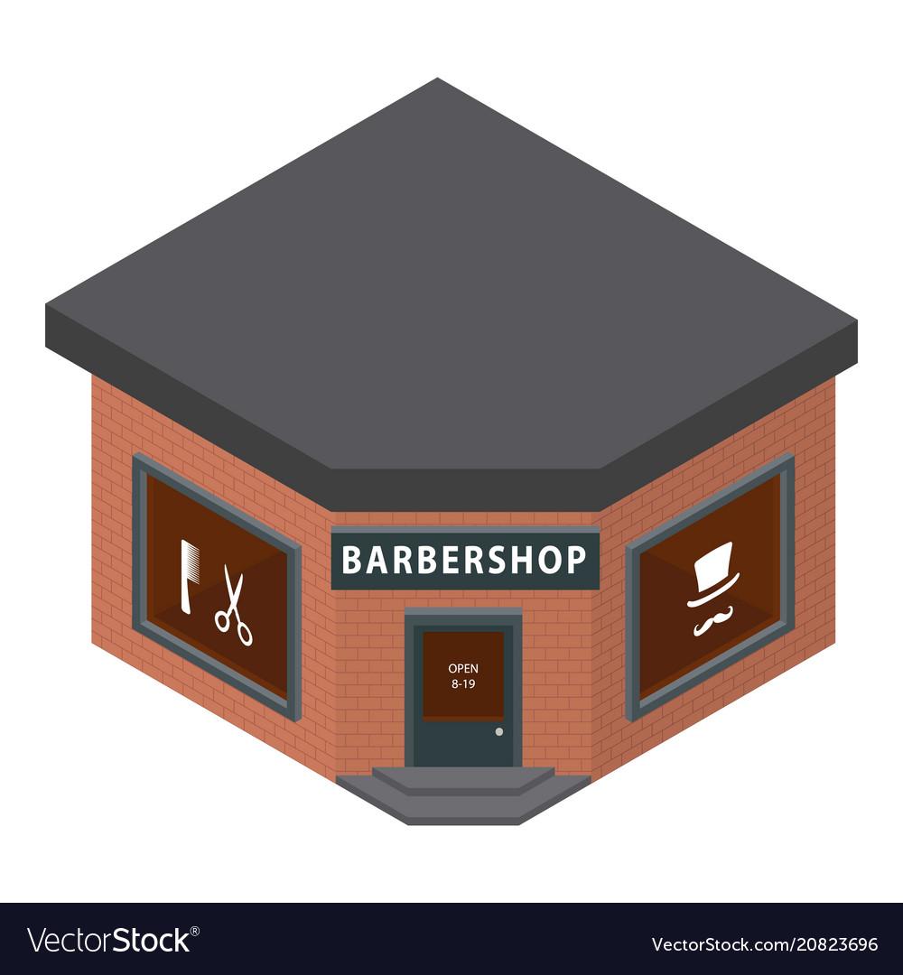 Barbershop icon isometric style