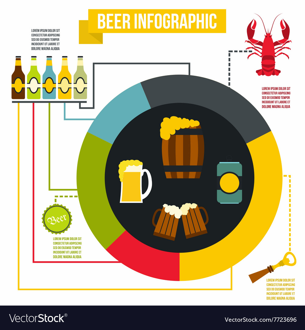 Beer infographic flat style