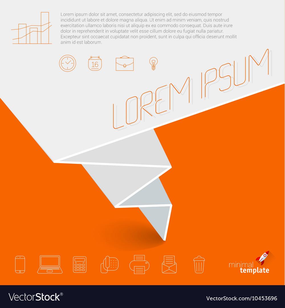 Business presentation mock up vector image