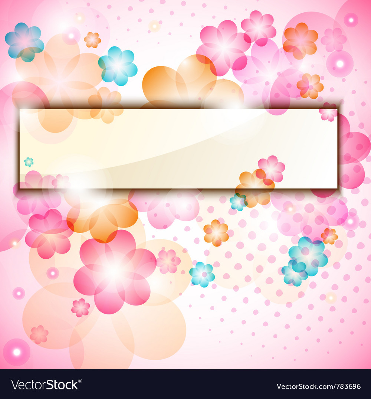 Colorful flower frame vector image