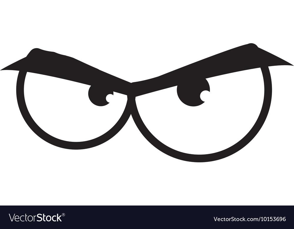 Eye angry look vision optical icon
