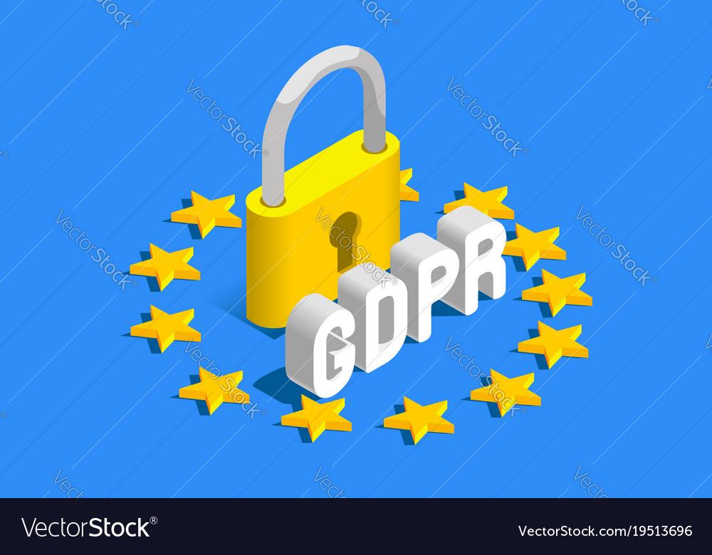 Gdpr eu flag banner vector image