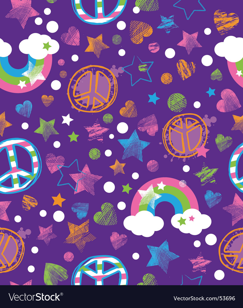Peace and rainbows vector image