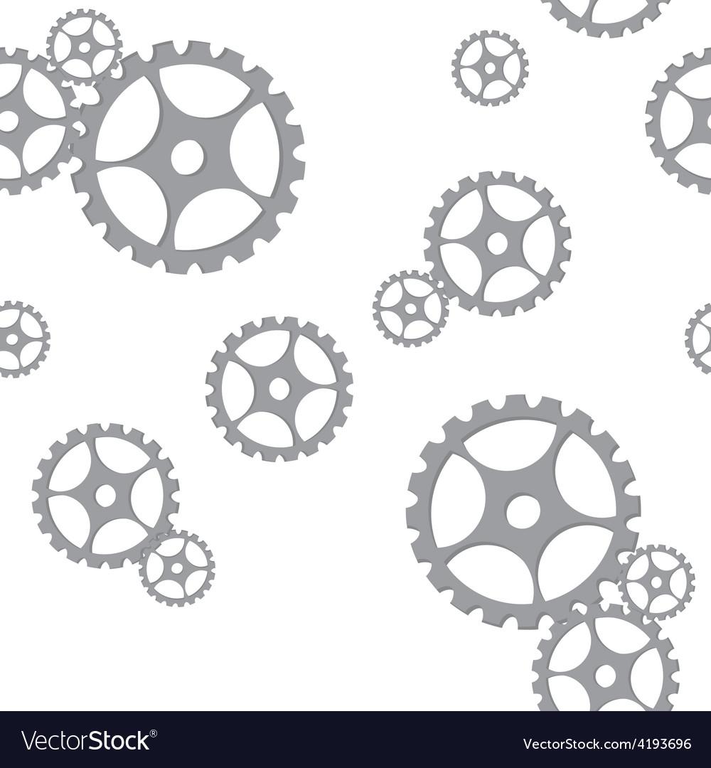 Silver gears pattern