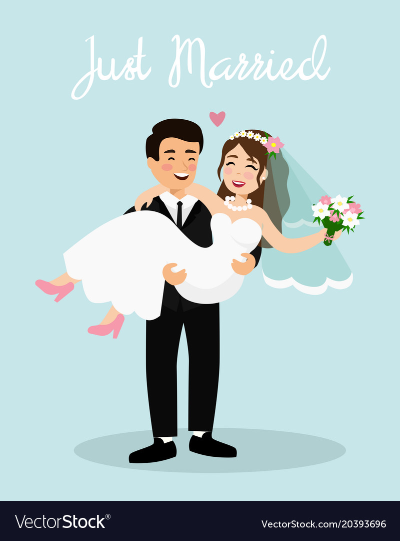 Wedding couple bride and Royalty Free Vector Image