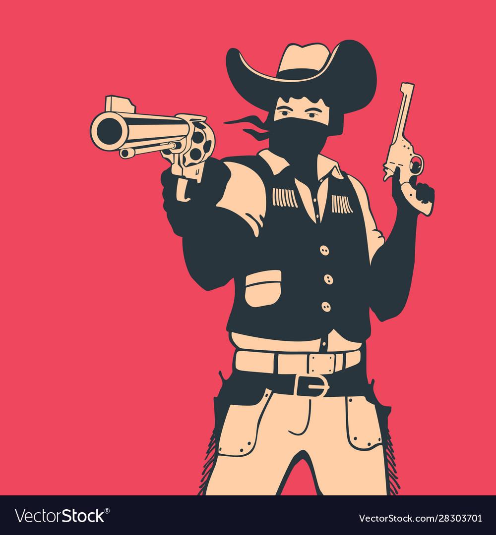 Cartoon style cowboy shooter