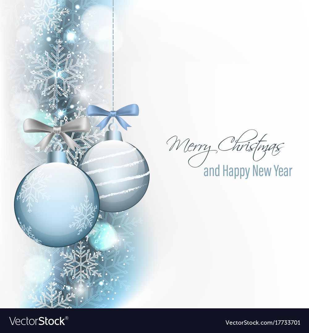 Christmas and new year greeting card Royalty Free Vector