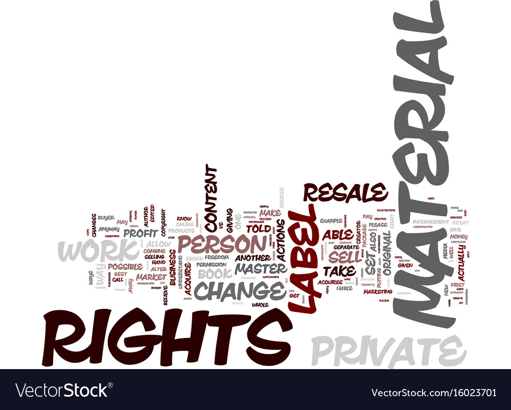 Everyone wins with private label rights text vector image