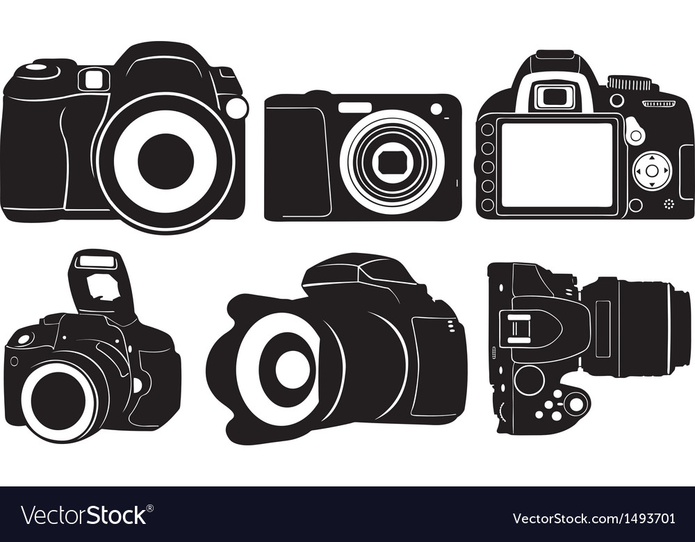 Foto cameras vector image