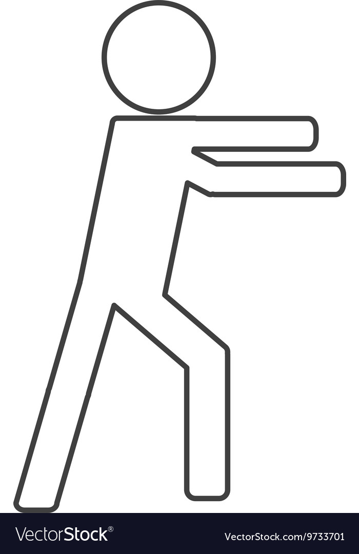 Icon of person fight boxing
