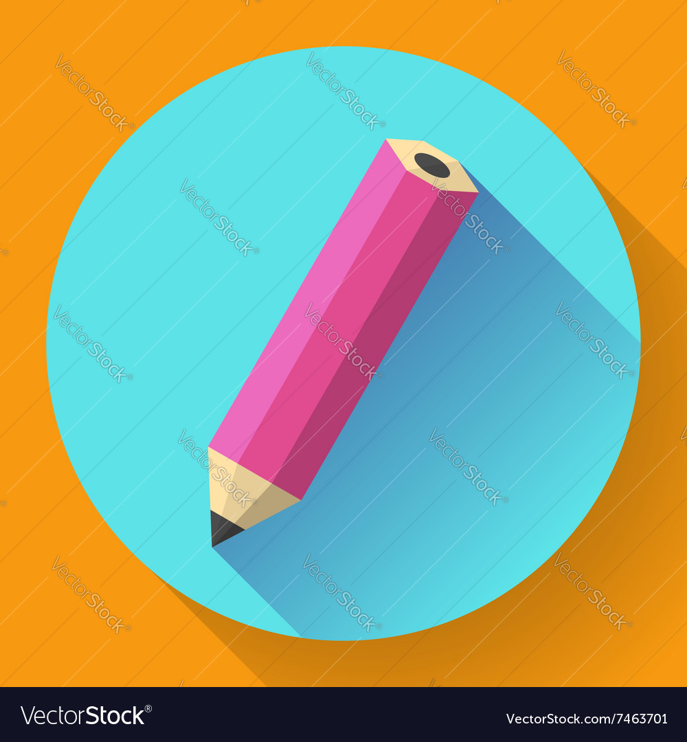 Office pencil icon Business Flat design style vector image