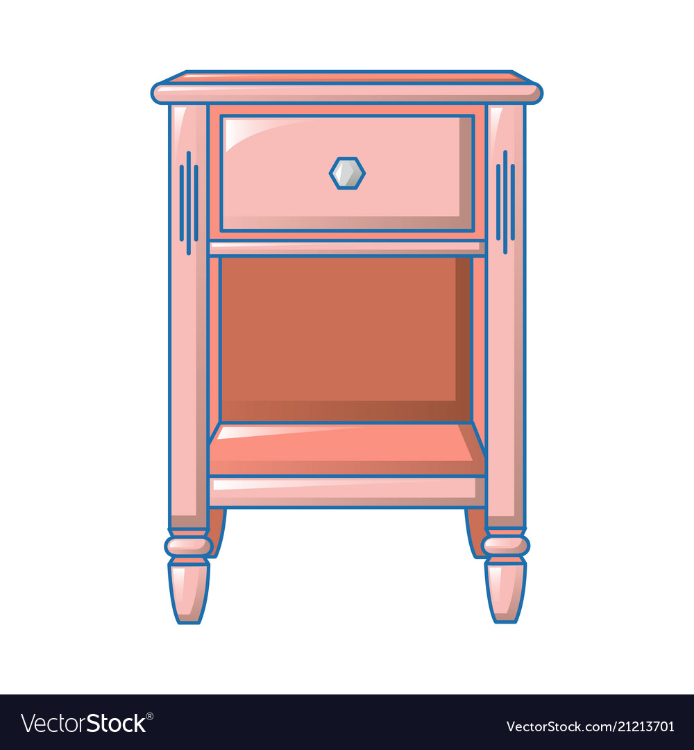 Small Bedside Table Icon Cartoon Style