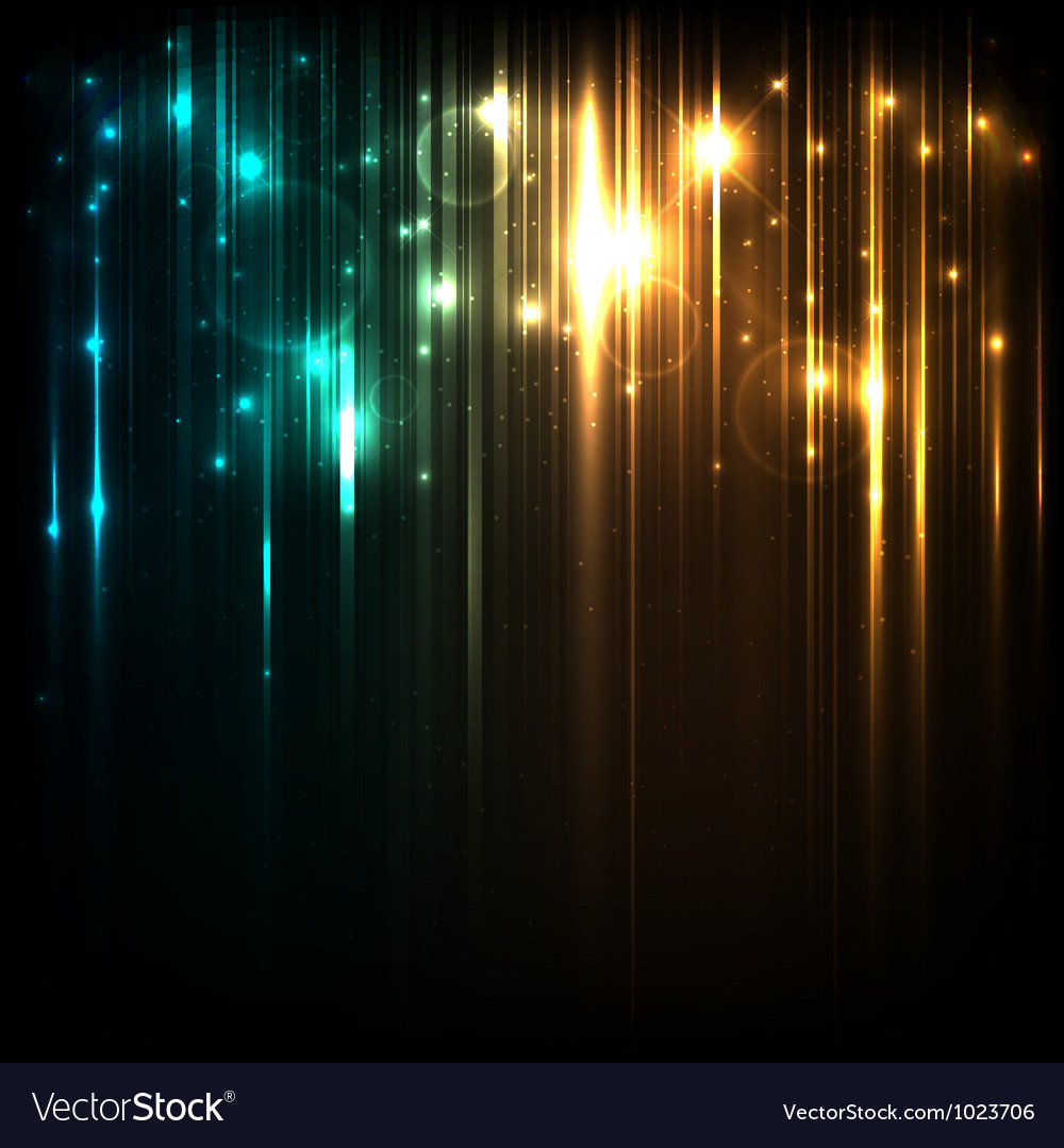 Background with magic lights vector image
